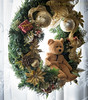 Just Hanging (HTBT) (13skies) Tags: teddybeartuesday teddy bear wreath xmaswreath ornament decoration frontwindow frontdoor door hanging hangingaround sneaking surprise camouflaged hidden htbt happyteddybeartuesday
