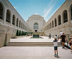 Warmemorialographer (@fotodudenz) Tags: mamiya7 film rangefinder super wide angle medium format 43mm kodak portra 160 australian war memorial kid photographer blue sky canberra act