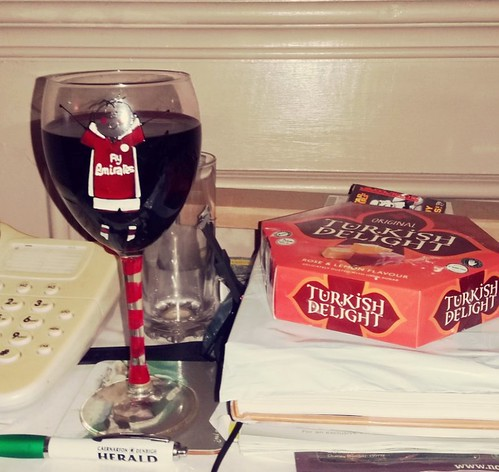 Wine & Turkish delight.