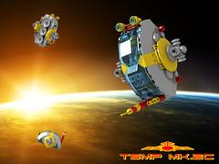 Two-Seat Manoeuvring Pod (David Roberts 01341) Tags: lego ldd povray homeworld space scifi spaceship minfigure shuttle pod spacecraft