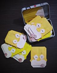 Tarjeta homer (Graciela Vicente) Tags: homer dibujo origami papiroflexia tarjeta cartoon simpson