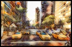 NYC fleet... (Sherrianne100) Tags: streetscene bigcity taxi thebigapple newyorkcity nyc