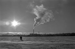 Walking on ice (Cattail_) Tags: helsinki vanhankaupunginlahti ice snow winter finland