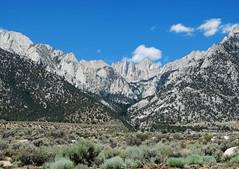 East Face of Sierra Nevada with Mt Whitney, CA 2015 (inkknife_2000 (7 million views +)) Tags: mtwhitney california tallestpeakinusa sierranevada skyandclouds mountains snowonmountains alabamahills movieflats boulder cloudsandsky