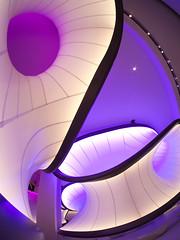 Science Museum - Zaha Hadid (martinturner) Tags: science museum zaha hadid london architecture curves airflow purple