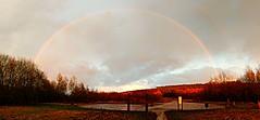 Panoramic of my 2nd rainbow of the day (same rain shower!) (eucharisto deo) Tags: rainbow panoramic panorama sence valley park