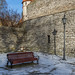Bench And Lantern In Medieval Tallinn