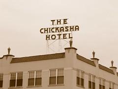 The Chickasha Hotel in Chickasha, Oklahoma in sepia (kevinellison62) Tags: sepia chickashahotel architecture building oldbuilding hotel chickasha oklahoma