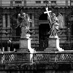 Roma, Ponte Sant'Angelo (pom.angers) Tags: panasonicdmctz30 february 2017 roma rome lazio italia italy europeanunion sculpture statue 100 150