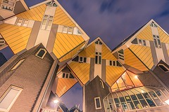 Rotterdam Architecture (Esther5h (On and Off)) Tags: 2017 rotterdam februari architecture architectuur kubuswoningen nightphotography