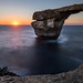 Sunset at the Azure Window - San Lawrenz, Malta - Seascape photography