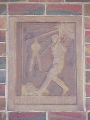 Art Deco Cricket Panel, Fawkner Park, Melbourne