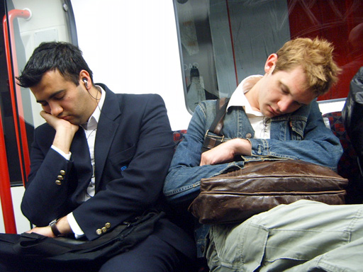 Sleeping on the Central Line