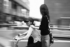 (maggot) Tags: bw woman girl bicycle 1025fav 100v10f fv5 osaka kita umeda