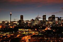 Sydney at Dusk (Xenedis) Tags: sydney twilight woolloomooloo dusk bluehour city skyline night evening newsouthwales nsw australia