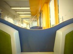 cotacote (seb joguet) Tags: train rail seats urbantransport fauteuil courbes siges flashycolors