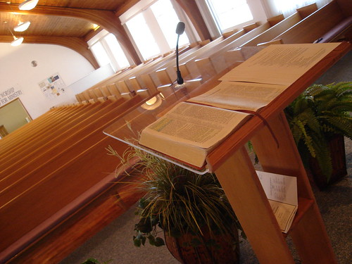 picture of a pulpit by Praise711/Flickr/Creative Commons