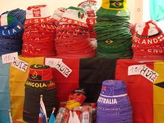 Merchandise (Photocapy) Tags: brazil england italy hat germany mexico football mask soccer hamburg hats poland wm fans worldcup futbol supporters heiligengeistfeld fifaworldcup angola fanfest germany2006 deutschlandecuador germanyecuador