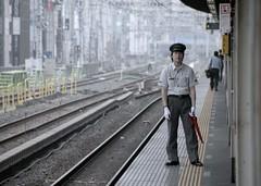 Awaiting the train (manganite) Tags: people men topf25 station fashion japan digital train geotagged asian japanese tokyo topf50 nikon topf75 uniform asia tl candid young guys d200 dslr topf100 eki okachimachi blueribbonwinner fav100 18200mmf3556 manganite nikonstunninggallery 25faves ipernity date:year=2006 geo:lon=13977474 geo:lat=35707475 date:month=june date:day=23