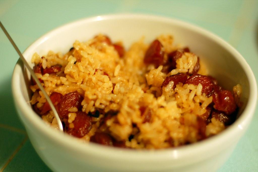 Tom Yum Rice with Chinese Sausage