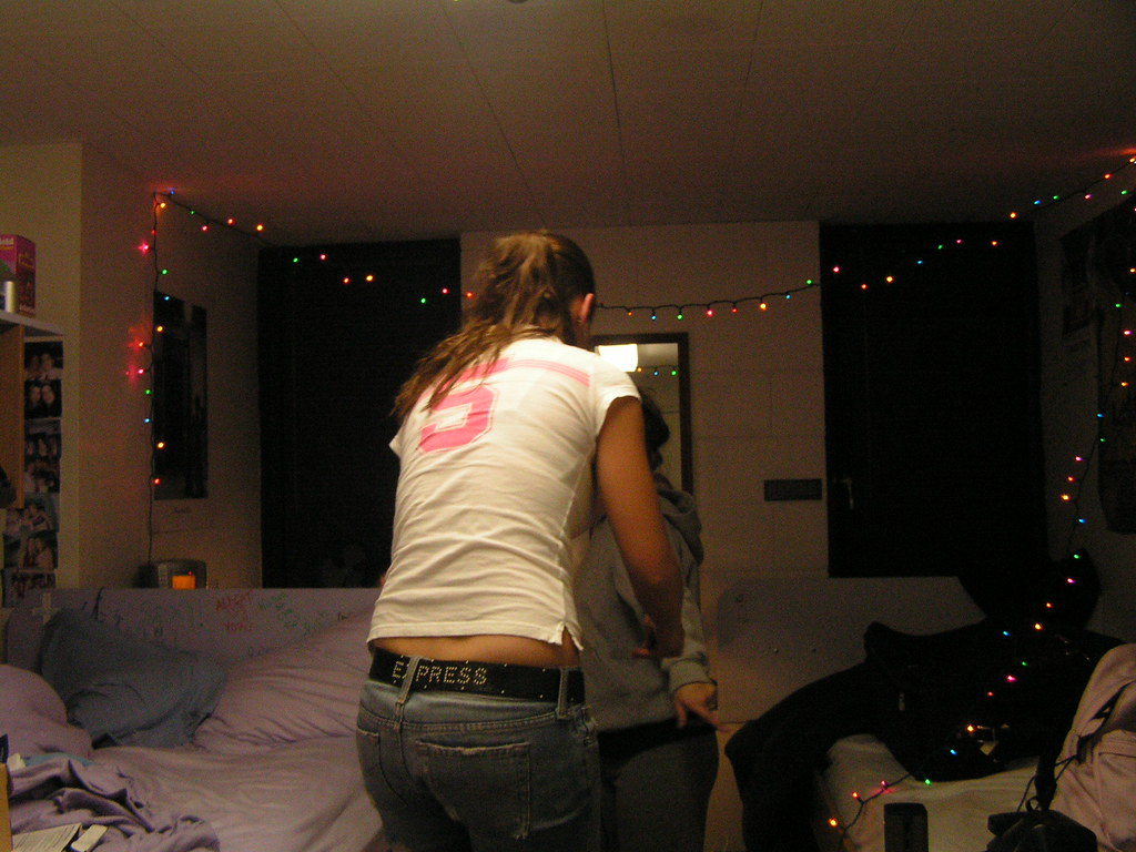 brittany decorates the room