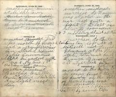 Fateful Diary spread 34 (Rocky Pix) Tags: st burlington big war general pennsylvania hugh top north 18th jackson gettysburg civil round stonewall middletown hanover clair harrisburg fredricksburg littletown
