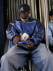 NYC #77 (digital_freak) Tags: nyc newyork bus hat bronx badass jacket hiphop leatherjacket baggy cdplayer discman digitalfreak bx12
