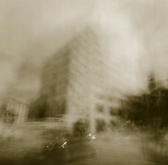 (nicolai_g) Tags: seattle film sepia buildings blurry moo spacetime