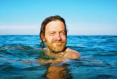 OW ARH (lomokev) Tags: sea man male face swimming john portrate deletetag nikonosv nikonos5 file:name=cnv00074ps johnsc