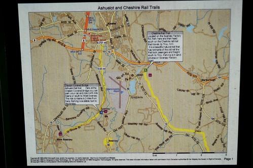 Bike Trail Map at Cresson Covered Bridge, NH 1