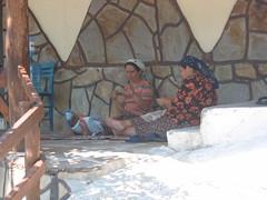 Turkish women crocheting