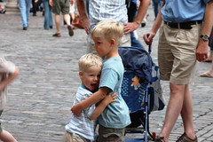 Brothers! (Muadh N M) Tags: baby cute london love boys kids gold hug brothers father blond coventgarden sons londonbabies