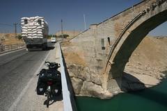 Roman bridge across the Batman Baraji (dammed lake) in Catakkoprü (Nicolai Bangsgaard) Tags: turkey favourites wt 26jul06