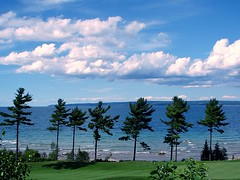 Lake Michigan (suesue2) Tags: trees lake clouds golf michigan outstandingshots specnature bayharborresort