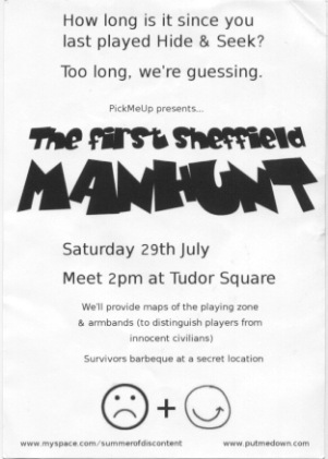 MANHUNT SHEFFIELD flyer