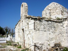 Old church held up with twine, Naxos (Boots in the Oven) Tags: old travel building church island honeymoon hellas greece cyclades naxos