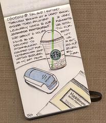 A wonderful day :) (renmeleon) Tags: moleskine coffee sketch reporter starbucks ria renmeleon renfolio