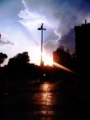Lucy in the sky with reflects (antoniocasas - homofotograficus.com) Tags: blue sunset sky sol azul clouds photoshop geotagged spain andalucia cielo granada nubes antonio puesta casas rayos antoniocasas geo:lat=37187177 geo:lon=3610725