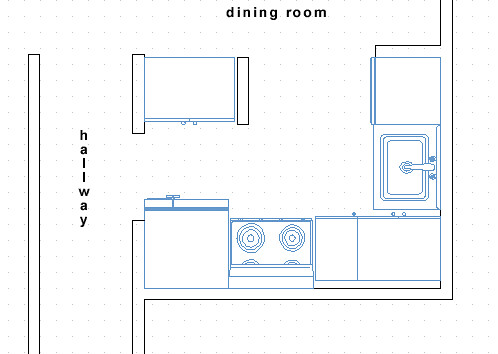 The basic plans of our small kitchen