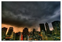 Live from NYC - with a lightning (Arnold Pouteau's) Tags: nyc newyorkcity newyork manhattan thunderstorm lightning gotham hdr nyc10 50ms