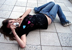 H1 - Dionne on the floor (JArouš ♂) Tags: camera blue black hearts cool floor ground 123 textures lookatme caughtintheact dionne 1on1 thecontinuum 1on1peoplephotooftheday