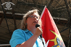 Elizabeth May at Rally for Lebanon (IndyFoto) Tags: party copyright lebanon usa signs toronto canada green against children dawn bush war elizabeth rally protest may 2006 christian demonstration stop arab linda american murder jew bombs harper hammond israeli bombing gaza placards consulate palestinians deaths antizionist indyfoto