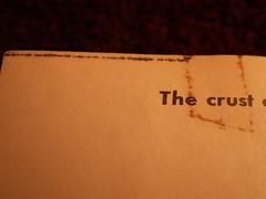 The crust (Mamluke) Tags: old brown black vintage dark paper buch crust typography book words boek noir alt text negro libro edge page font braun papel p