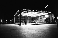 untitled (graeme fraser) Tags: berlin station architecture buildings wow underground lights metro hp5 postdamerplatz nikonf75 cotcmostfavorited