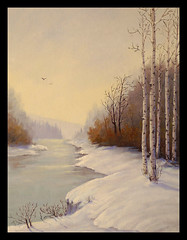 Aspens in Late Winter - Oil Painting (Bonnie Bowne) Tags: art painting creativity artwork oil oilpainting abigfave