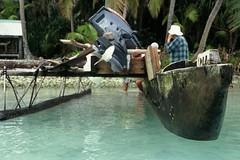 world's first power-canoe (damian welch) Tags: polynesia canoe atoll tokelau vaka