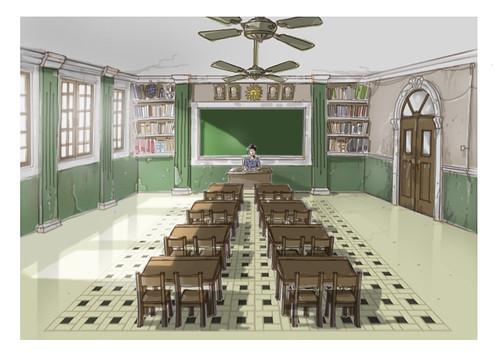 Set design-classroom