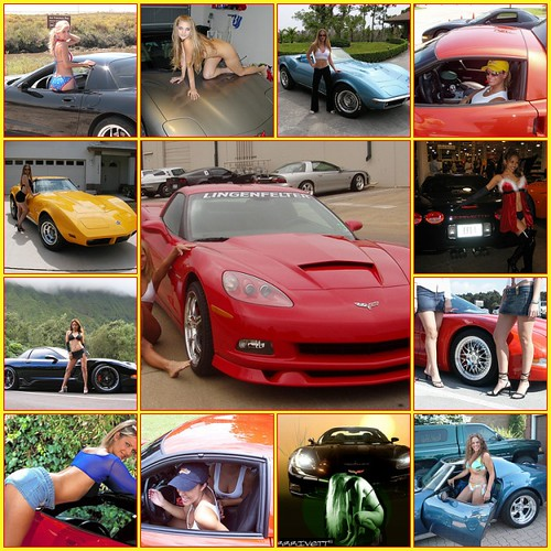 Corvette Babes. Created with fd's Flickr Toys.Posted by Tom Hiltz [redvette]