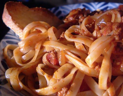 receta fetuccini mariscos