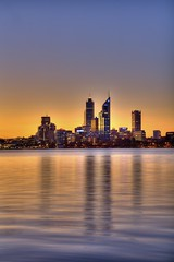 Rainbow City (rich115) Tags: city sunset perth hdr swanriver 3xp photomatix tonemapped